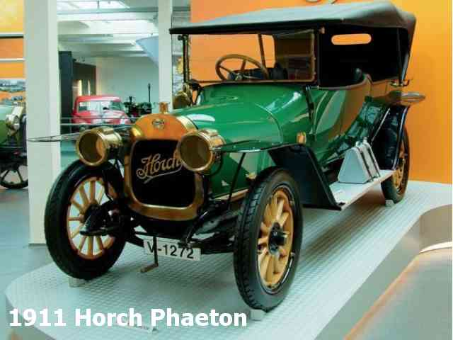 1911 Horch Phaeton - 1911 Horch Phaeton had 50 km/h max speed. Horch Phaeton engine was 2 cylinder with capacity of 2500 cm3