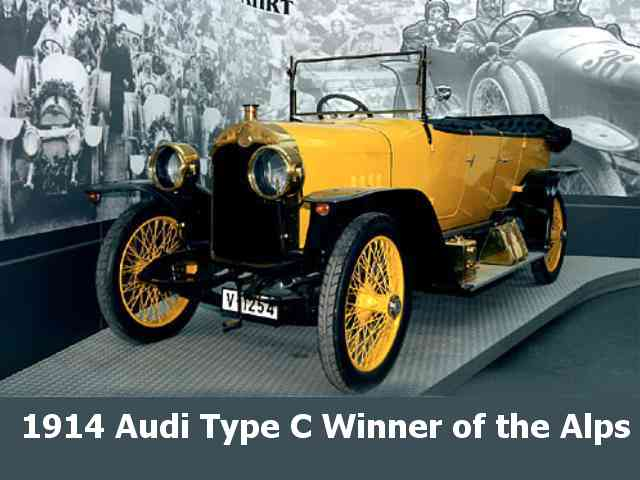 1914  Audi Type C - 1914 Audi Type C - winner of the Alps