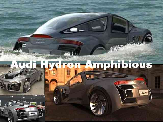 Audi Hydron Amphibious - David Cardoso has designed an amphibious car that has been named the Audi Hydron. Audi Hydron is a 3...