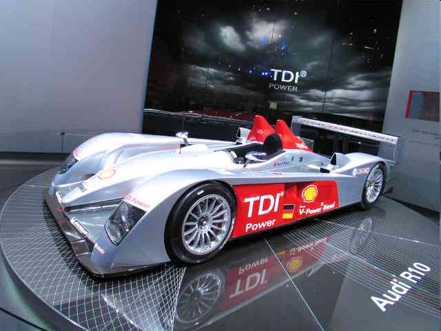 Audi R10 TDI - Audi R10 TDI is a racing car from the German car manufacturer Audi. The Audi R10 TDI was unveiled on...