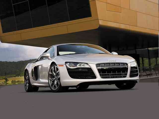 Audi R8 5.2 FSi Quattro - 2010 Audi R8 5.2 FSi Quattro sport car is 2 doors 2 seater Audi Cabriolet with Gasoline V10 engine with 4 valves per cylinder. It has Electronic fuel injection (EFI) system and Double overhead cam (DO... Audi Cars models, news, information, reviews and pictures.