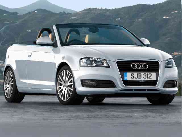 2010 Audi A3 1.2 TFSI - Audi A3 1.2 TFSI is a three-doors Audi Cabriolet with Gasoline engine that has direct injection fuel system and Double overhead cam (DOHC) fuel control. Audi A3 1.2 TFSI Cabrio engine capacity is 1197... Audi Cars models, news, information, reviews and pictures.