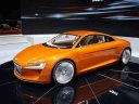 Audi e-tron Spyder Concept (2010) - Audi presents the Audi e-tron Spyder Concept at the fall 2010's Paris Auto Show. The two-seater Audi...
