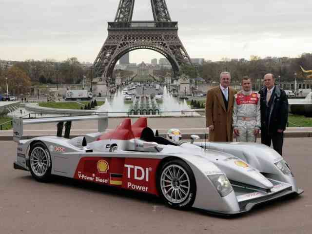 Audi R10 TDI Race Car - Audi R10 TDI Race Car is revolutionary in its engine technology, employing diesel fuel in a class of...