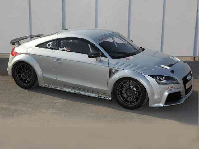 2012 Audi TT RS GT4 - Audi TT RS GT4 is a race car which was demonstrated at the DTM in Shanghai. The Audi TT RS GT4 has a...